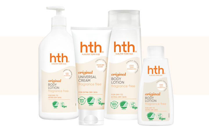 HTH Original Body Lotion Milt Parfymerad 200 ml |